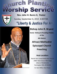 Bishop John R. Bryant Senior Bishop & Presiding Prelate of 4th District